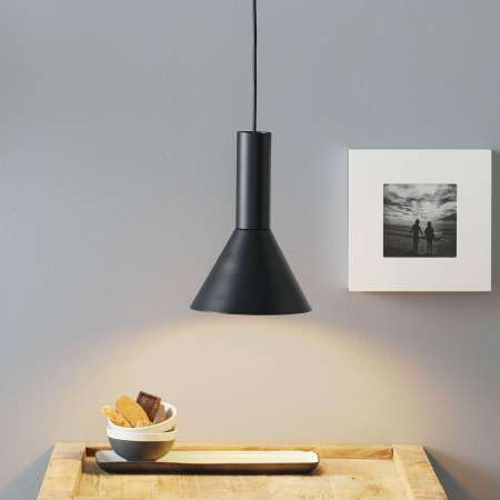 Lucande Lucande Caris závesná lampa Ø19 cm čierna/biela