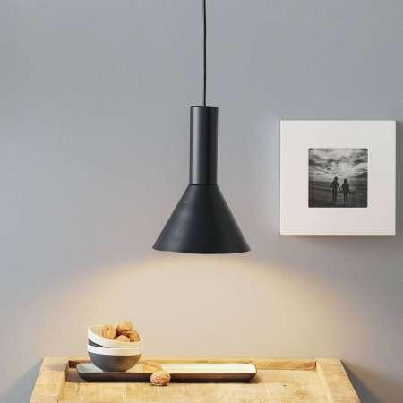 Lucande Lucande Caris závesná lampa Ø19 cm čierna/zlatá