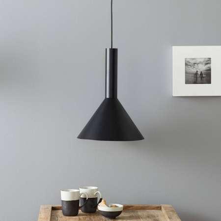 Lucande Lucande Caris závesná lampa Ø30 cm čierna/zlatá