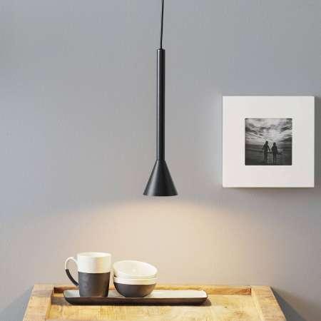 Lucande Lucande Caris závesná lampa Ø8,5 cm čierna/zlatá