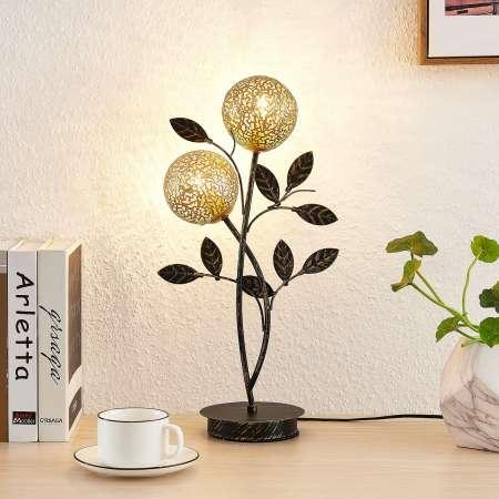 Lucande Lucande Evory stolná lampa, 2-plameňová