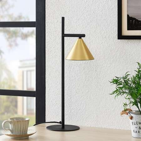 Lucande Lucande Kartio stolová lampa, mosadz