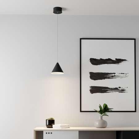 Lucande Lucande Livan závesné LED svietidlo, čierne, 1-pl.
