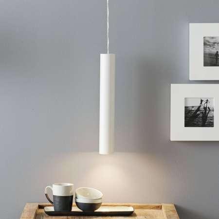 Lucande Lucande Luana závesná lampa 40 cm, biela