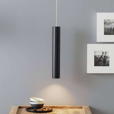 Lucande Lucande Luana závesná lampa 40 cm, čierna