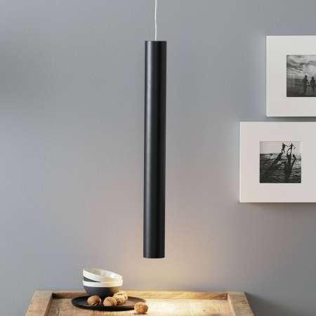 Lucande Lucande Luana závesná lampa 60cm, čierna