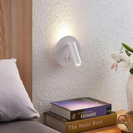 Lucande Lucande Magya nástenné LED, biele 2-pl. okrúhle