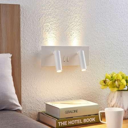 Lucande Lucande Magya nástenné LED svietidlo biele 4-pl.