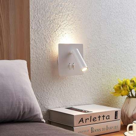 Lucande Lucande Magya nástenné LED,biele 2-pl štvorec