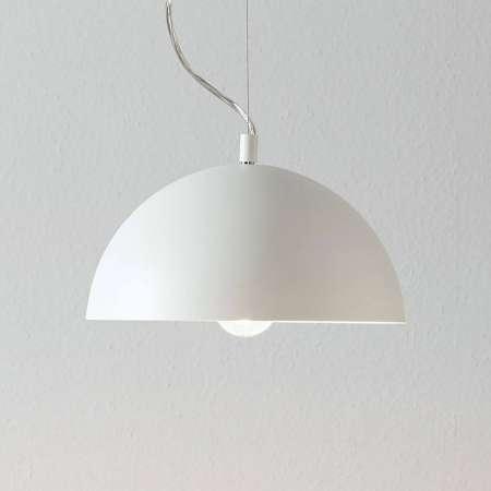 Lucande Lucande Maleo závesná lampa 30cm biela