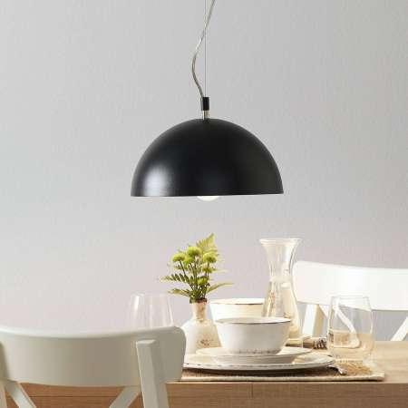 Lucande Lucande Maleo závesná lampa 30cm čierna
