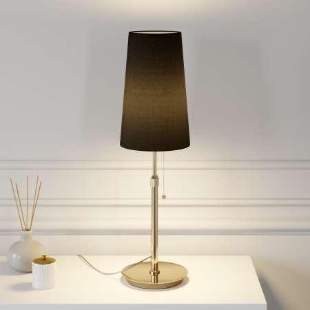 Lucande Lucande Pordis stolná lampa, mosadz-čierna
