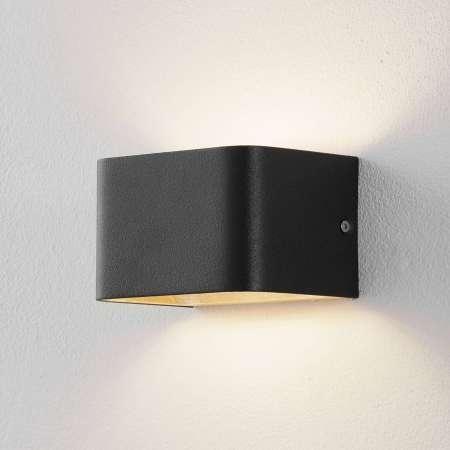 Lucande Lucande Sessa nástenná lampa 13 cm čierno-zlatá