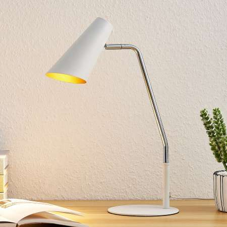Lucande Lucande Wibke stolná lampa v bielej