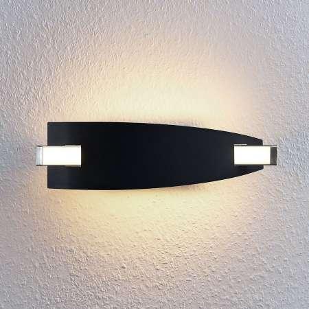 Lucande Nástenná LED lampa Marija v čiernej