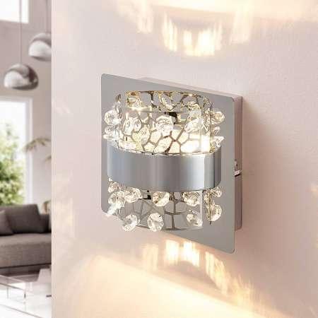 Lucande Nástenné LED svetlo Neelie sklenené kamene 1-pl