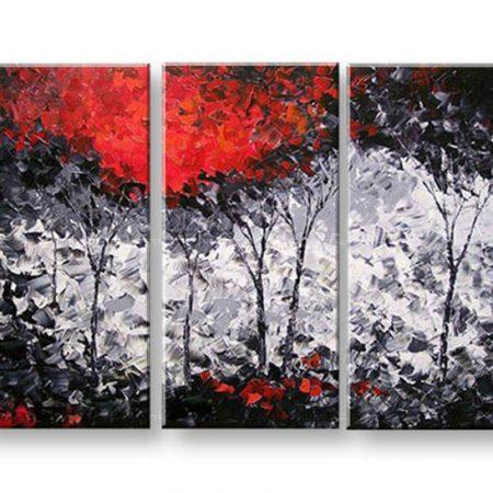 Maľovaný obraz na stenu ABSTRAKT 3 dielny NU0027E3