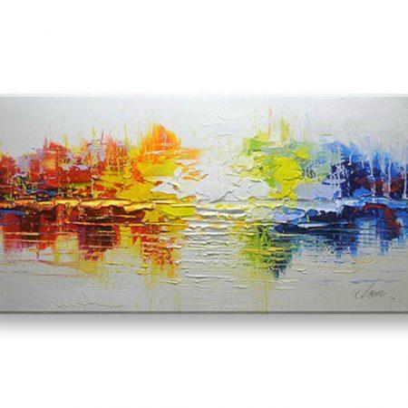 Maľovaný obraz na stenu ABSTRAKT FB199E1