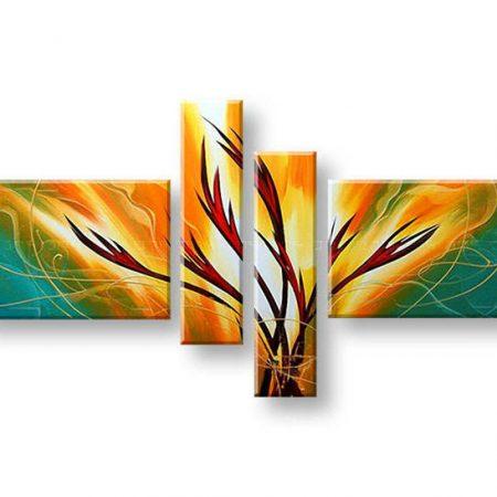 Maľovaný obraz na stenu ABSTRAKT FB213E4