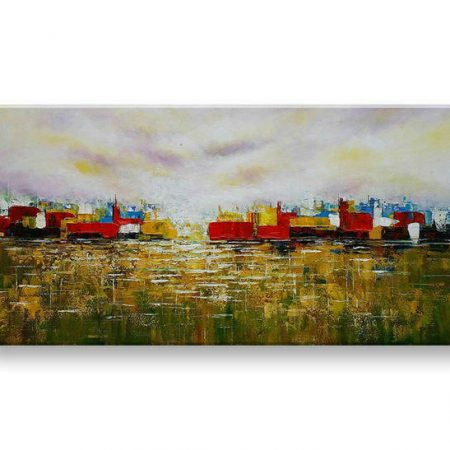 Maľovaný obraz na stenu ABSTRAKT FB475E1