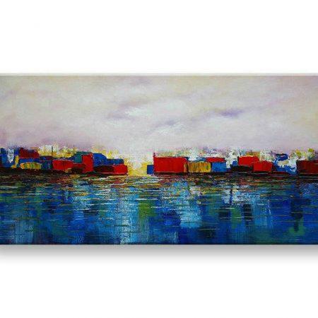 Maľovaný obraz na stenu ABSTRAKT FB477E1