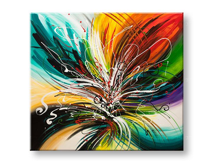 Maľovaný obraz na stenu ABSTRAKT YOBFB530E1