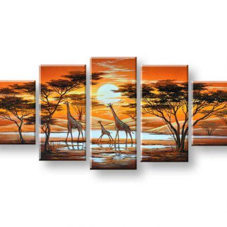 Maľovaný obraz na stenu AFRIKA FB152E5