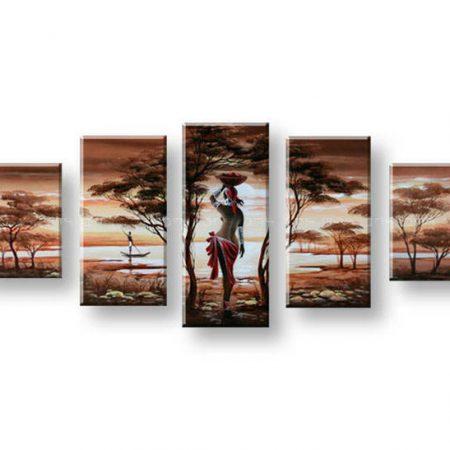 Maľovaný obraz na stenu AFRIKA FB196E5