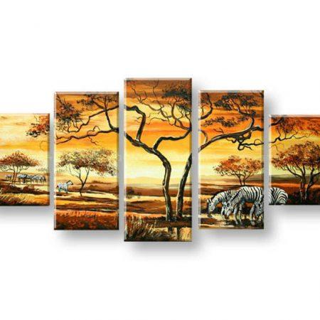 Maľovaný obraz na stenu AFRIKA FB306E5
