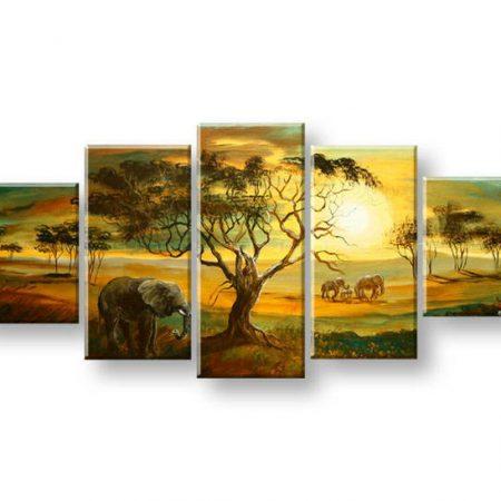 Maľovaný obraz na stenu AFRIKA FB398E5