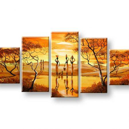 Maľovaný obraz na stenu AFRIKA FB444E5