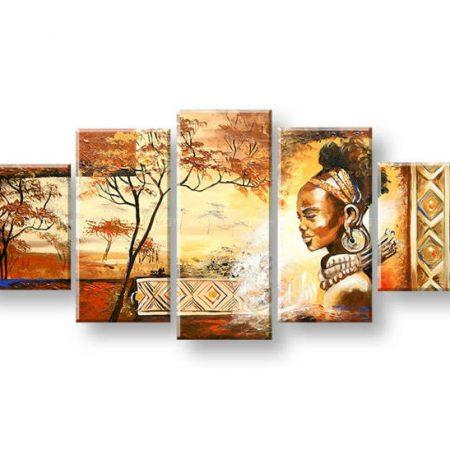 Maľovaný obraz na stenu AFRIKA FB448E5