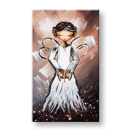 Maľovaný obraz na stenu ANJEL 1 dielny YOBAM027E1