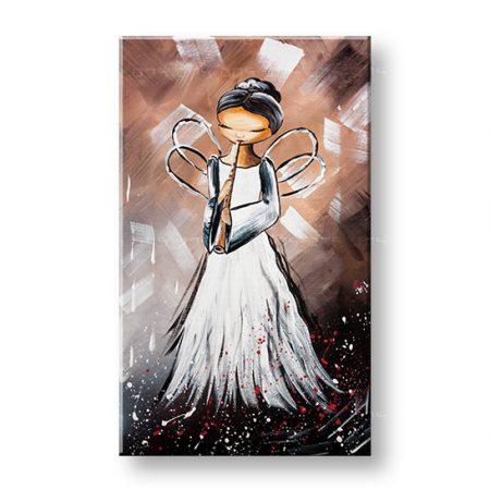 Maľovaný obraz na stenu ANJEL 1 dielny YOBAM028E1