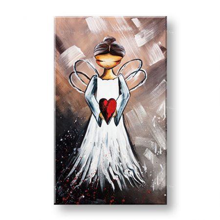 Maľovaný obraz na stenu ANJEL 1 dielny YOBAM029E1