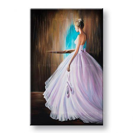 Maľovaný obraz na stenu BALETKA 1 dielny YOBFB578E1