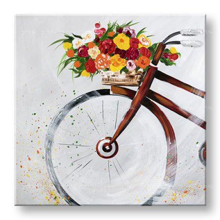 Maľovaný obraz na stenu BICYKEL 1 dielny YOBBI190E1