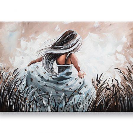 Maľovaný obraz na stenu DIEVČA 1 dielny YOBFB576E1