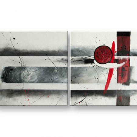 Maľovaný obraz na stenu DeLUXE - ABSTRAKT 007D2