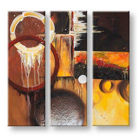 Maľovaný obraz na stenu DeLUXE ABSTRAKT 3 dielny 031D3