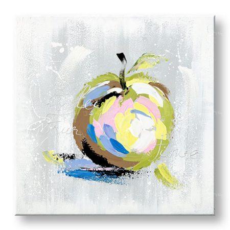 Maľovaný obraz na stenu DeLUXE JABLKO 1 dielny YOBDO142D1