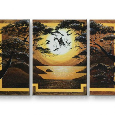 Maľovaný obraz na stenu DeLUXE -  LÁSKA 3 dielny 024D3