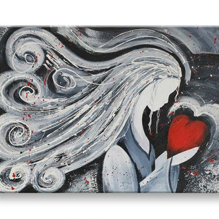 Maľovaný obraz na stenu DeLUXE ŽENA 043D1