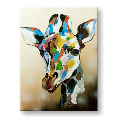 Maľovaný obraz na stenu DeLUXE ŽIRAFA -  YOBDO141D1
