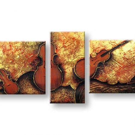 Maľovaný obraz na stenu HUDBA FB157E3