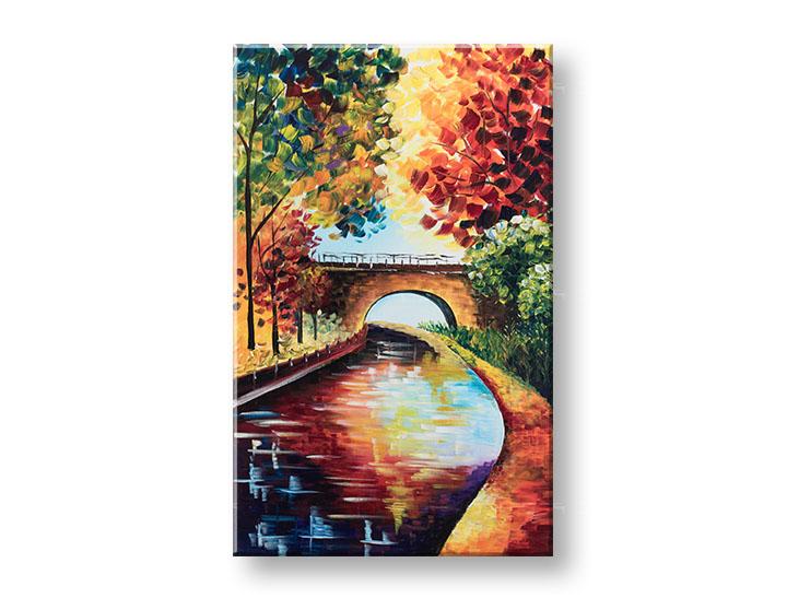 Maľovaný obraz na stenu KRAJINA 1 dielny YOBFB567E1