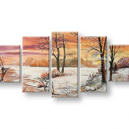 Maľovaný obraz na stenu KRAJINA FB429E5