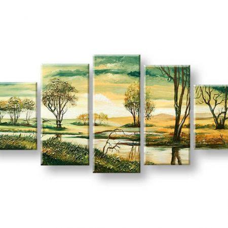 Maľovaný obraz na stenu KRAJINA FB438E5