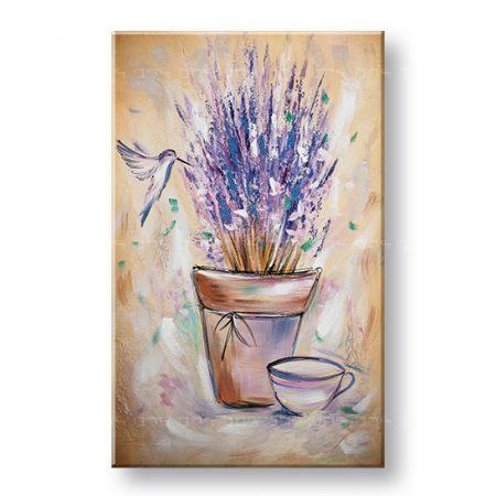 Maľovaný obraz na stenu KVETY 1 dielny YOBAM057E1