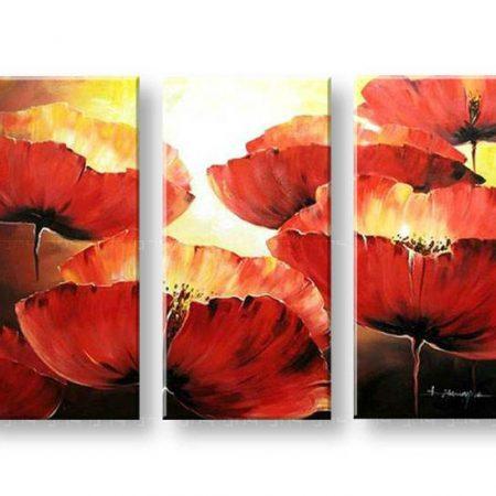 Maľovaný obraz na stenu KVETY FB210E3